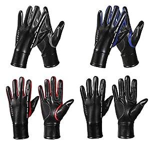 Arvin87Lyly Winter Warme Vollfinger Sporthandschuhe, Wasserdichte Winddichte Touchscreen Handschuhe, Winter Verdickt Ski Radfahren Handschuhe