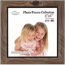 Inov8 6 x 15,24 cm marco de fotos, madera de fresno con rústico