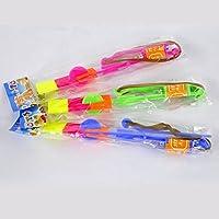 FOME Amazing luce LED freccia Rocket elicottero volante giocattolo partito regalo divertente elastico + FOME regalo 24 PCS