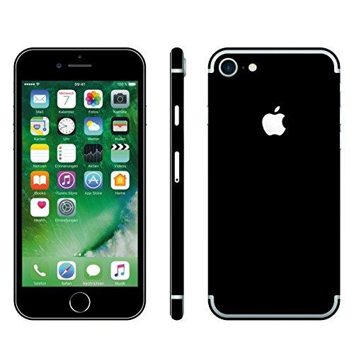 IPHONE 7 SCHWARZ MATT FOLIE SKIN ZUM AUFKLEBEN bumper case cover schutzhülle i phone (Iphone 4 Gold Aufkleber Skin)