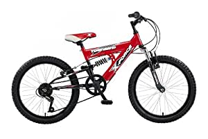 Townsend Xforce Boys Dual Suspension Bike - Red / Black, 20-inch
