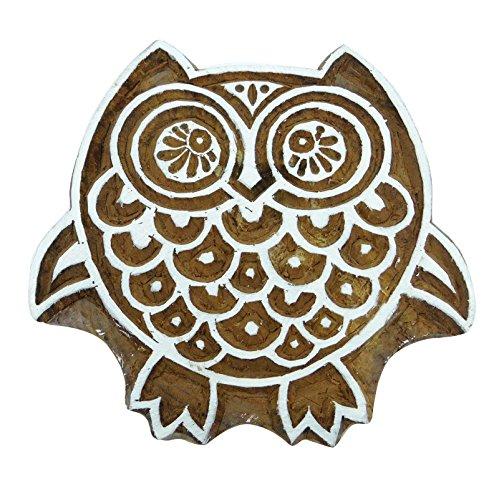 Scrapbook-Stempel dekorativen Holzblöcke Textilmarken Eule Klischee