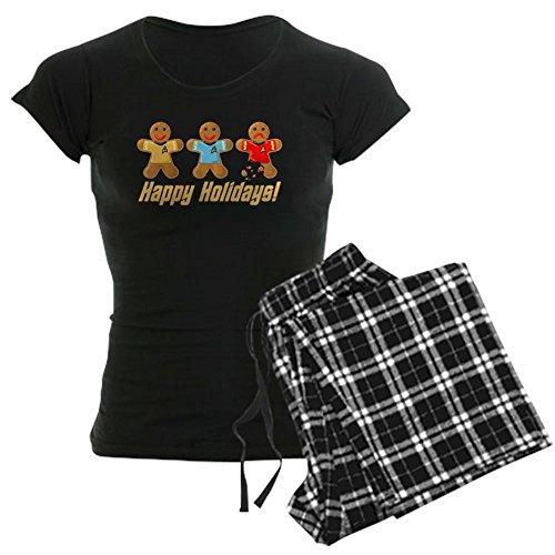 CafePress Star Trek Gingerbread Men Pajamas - Womens Novelty Cotton Pajama Set, Comfortable PJ Sleepwear