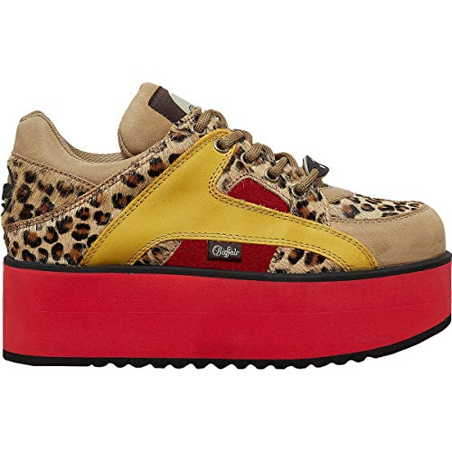 Buffalo 1330-6 Rising Towers Womens - Leopard Yellow - 39 EU -