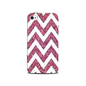 Mikzy Pink And White Pattern Printed Designer Back Cover Case for Iphone 4/4S (MultiColour)