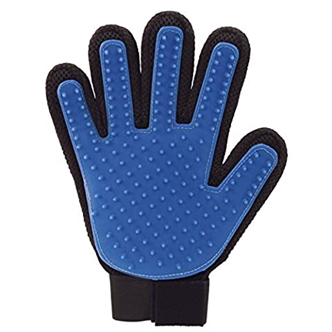 JML True Touch Silicone Pet Grooming Glove Massager with 5 Finger Design