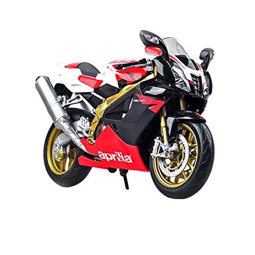 Rong Motorrad Automodell - Erwachsenen-Kollektion/Kinderspielzeug 1:10 Druckguss, Mini Car Fertiges Modell/Dekoration, Geschenk,A