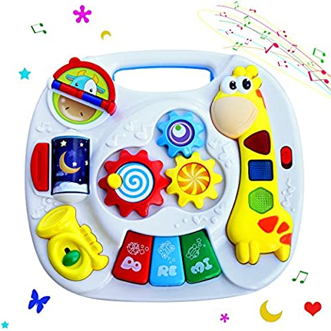 Baby Toddler Musical Learning Table Electronic Early Educational Development Music Toy for Kids