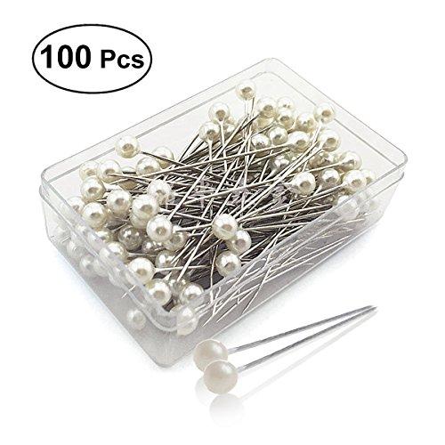 ROSENICE Stecknadeln Kopf Pins für Schneider Nähen DIY Party deko 100pcs