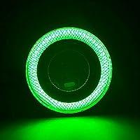 """QHGstore 2pcs 2.5 """"/3.0"""" /3.5 """"nebbia della luce impermeabile del LED proiettore con obiettivo Anelli COB verde 3 #"""