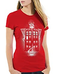style3 Who Voyage T-Shirt Femme dalek dr police box space doctor tv