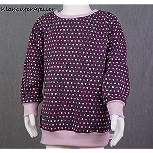 Hoodie Pullover Sweatshirt Jersey Handmade Mädchen Sternchen