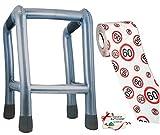Unbekannt 2 TLG. Set: __ Gehhilfe - ( Aufblasbar ) + Toilettenpapier Rolle -  60. Geburtstag / sechzig und Sexy - Happy Birthday  - lustiger Partyartikel - für  alte..