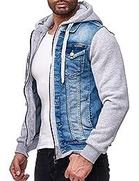 Redbridge Herren Jeansjacke Jacke Sweatjacke Übergangsjacke Premium RB Denim Blau - Grau