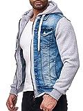 Red Bridge Herren Jeans Jacke Sweatjacke Übergangsjacke Premium RB Denim Blau - Grau S