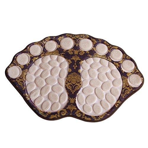 broadroot 3d Felpudo, diseño de Pebble pies antideslizante dormitorio cocina baño alfombra (1)
