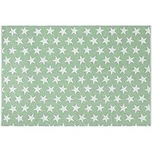 Creative Carpets Alfombra Estrellas, Algodón, Verde Agua, 120 x 180 cm
