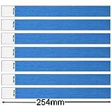 Tyvek Lot de 100 bracelets de sécurité Bleu Bleu 3/4 inch x 10 inch (19mm x 254mm)