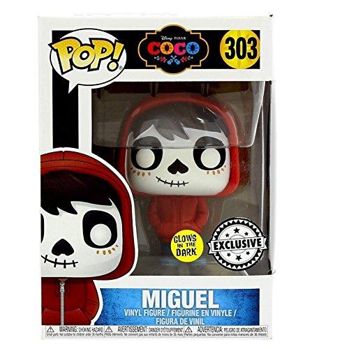Coco POP! Cine Vinilo Figura Miguel GITD Glow in Dark Exclusivo 9 cm