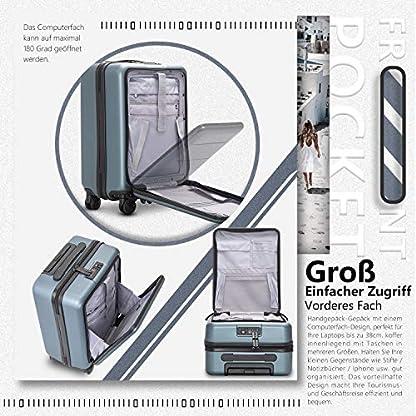 COOLIFE-Business-Trolley-Reisekoffer-Vergrerbares-Gepck-Nur-Groer-Koffer-Erweiterbar-ABSPC-Material-mit-TSA-Schloss-und-4-Stumm-schalten-Rollen