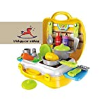 #5: Vibgyor Vibes Ready Your Own Pretend Play Cooking Kitchen Set/Kit in A Ready to Go Suitcase
