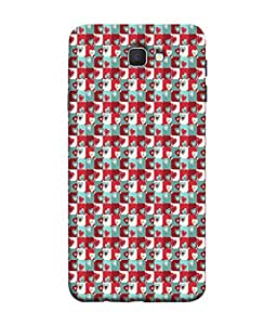 FUSON Designer Back Case Cover for Samsung On7 (2016) New Edition For 2017 :: Samsung Galaxy On 5 (2017) (Seamless Pattern Blue Design Drawing )