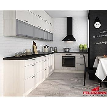 Küchenzeile 16154 küche l form 310x210cm jersey fino weiß