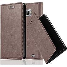 Cadorabo - Book Style Schutz-Hülle mit Standfunktion für Samsung Galaxy S2 (i9100) mit unsichtbarem Magnet-Verschluss - Case Cover Schutzhülle Etui Tasche mit Kartenfach in KAFFEE-BRAUN