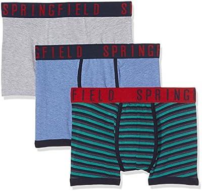 Springfield 3 Pack Waistband Brand, Bóxer para Hombre