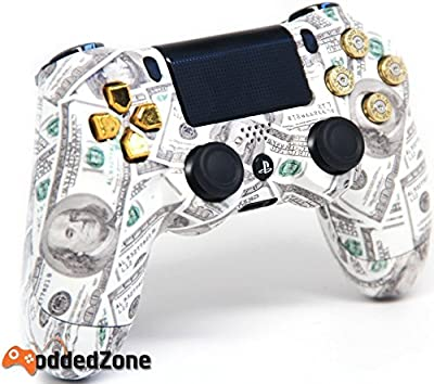 Money Talks Gold Bullet Buttons Ps4 Custom UN-MODDED Controller Exclusive Design