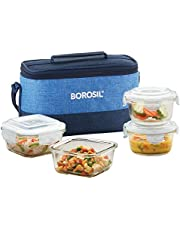 Borosil Prime Universal Glass Lunch Box Set of 4