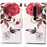 Sharp Icon Fancy Printed Designer Leather Flip Wallet Back Cover Case for Nokia 6.1, Nokia 6 2018