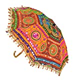 Jaipuri Handmade Embroidery Work Decorative Umbrellas For Party Decorations 21 x 26 Inches