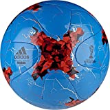 adidas Erwachsene Confederations Cup Krasava Praia Fußball, Top:White/Bright Red/Black Bottom:Silver Metallic/Pantone, 5