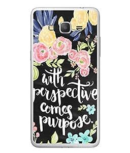 PrintVisa Designer Back Case Cover for Samsung Galaxy C7 SM-C7000 (Perspective And Purpose Floral Design)