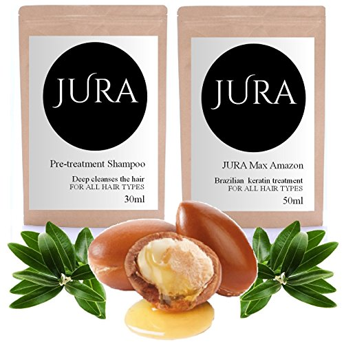 JURA AMAZON BRAZILIAN KERATIN TREATMENT STRAIGHTENING DIY KIT 80ML