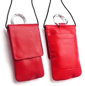 Original Krusell Edge Tasche In Rot Weichem Leder Mit Flap Geeignet Für Apple Iphone 5 5s