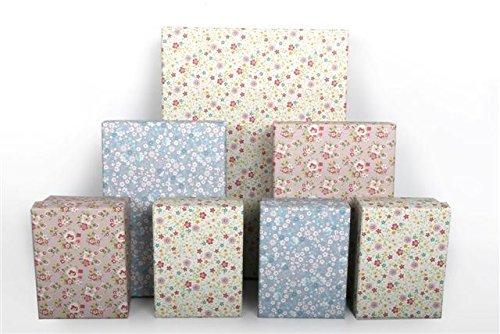 7Deko Blume Floral verschachtelt Geschenk-Boxen ideal für Hochzeit Geburtstag Valentine Love Jubiläum Baby Dusche Taufe Weihnachten Storage Geschenk-Box Tasche Wrap (Süßigkeiten-boxen Für Den Valentines Tag)