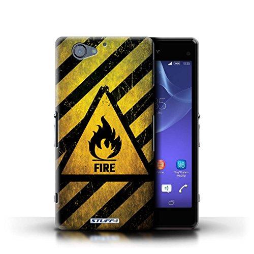 Kobalt® Imprimé Etui / Coque pour Sony Xperia A2 / Bruit/Musique conception / Série Signes de Danger Feu/Inflammable