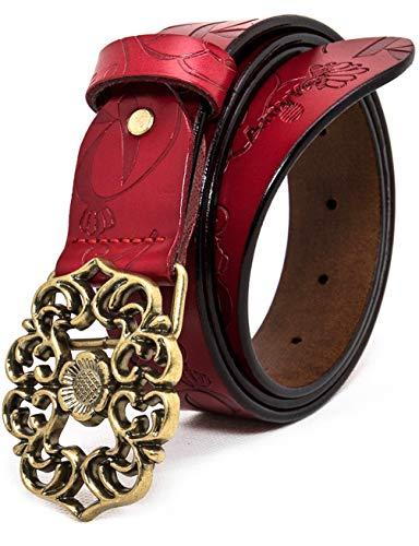 AmyKer para mujer Cinturón de cuero genuino con pantalones...