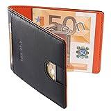 HOEASY Money Clip RFID Wallet for Men - Minimalist Mini Wallet Slim Travel