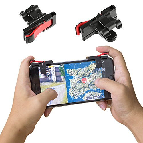 Coomir 1Pair Phone Gamepad Joysticks Disparador Fire Button Disparador de Disparo para Cuchillos Juegos PUBG