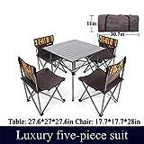 FGKING Table et Chaise Pliantes Portables, Table et Chaise de Camping, Loisirs de...