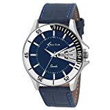 #9: Rich Club RC-1555 Blue Dial And Leather Strap Day And Date Analog Watch For Men And Boys