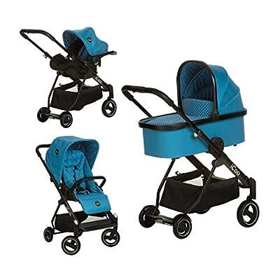 iCOO 151518 Acrobat Kinderwagen, XL Plus Trioset, blau