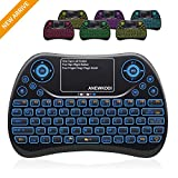 ANEWKODI - Mini Teclado inalámbrico 4 en 1 (2,4 GHz, Compatible con Smart TV, Android TV Box, HTPC, IPTV, XBOX360, PC, Pad, PS3, PC, etc.)