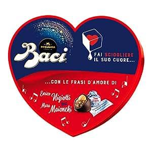 Baci Perugina Autografi d'Amore Cioccolatini Ripieni al Gianduia e Nocciola Intera - Scatola Cuore, 171 g