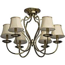 Lampadario da soffitto nobile elegante colore bronzo