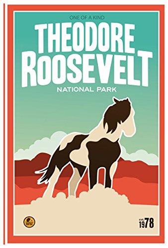 Theodore Roosevelt National Park, North Dakota Travel Poster Kunstdruck von Matt Messing 12x18 inch