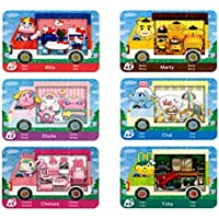 6 Stück Animal Crossing New Horizons ACNH Amiibo Sanrio Minikarte, RV Villager Möbel Kompatibel mit Switch/Switch Lite…